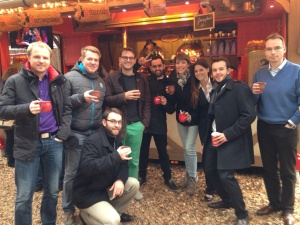 Celebrating Success at the Christmas Market Mannheim, Nov. 2014